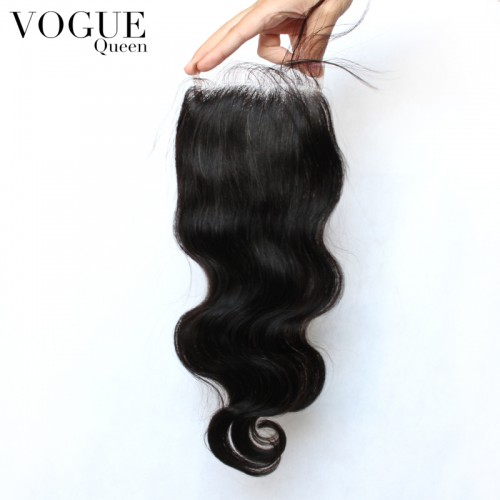 4x4 Lace Top Closure Body Wave,Brazilian Virgin Hair Free/2/3 Part