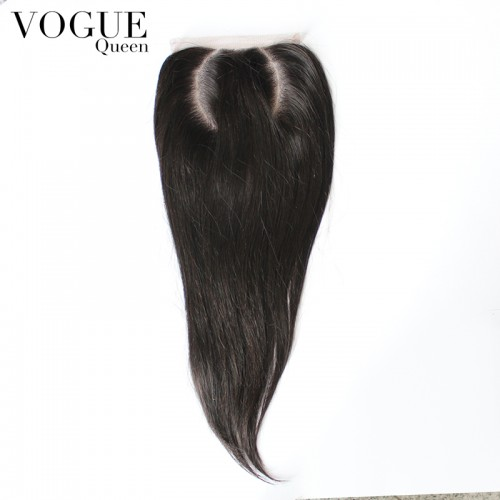 4x4  Straight O Part Lace Closure ,Brazilian Human Virgin Hair C Part Closure,Natural Color