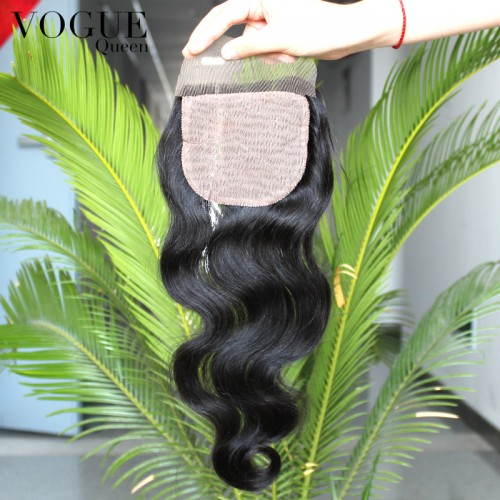 4x4 Body Wave Brazilian Virgin Hair Silk Base Closure,Free/Middle/3 Part Silk Top Closure