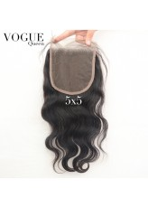 5x5 Body Wave Lace Closure,Brazilian Virgin Human Hair Pieces with Baby Hair