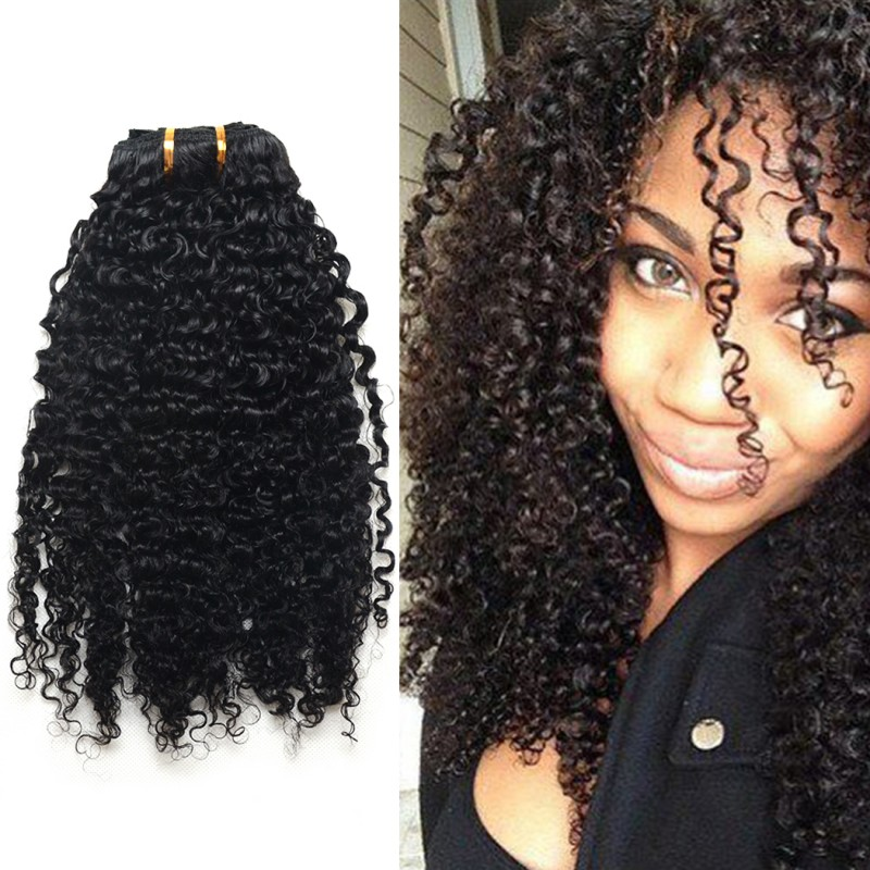 Afro Kinky Curly Clip In Hair Extension