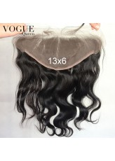 13x6 Full Lace Frontal Body Wave Human Hair,Bleached Knots,Natural Color