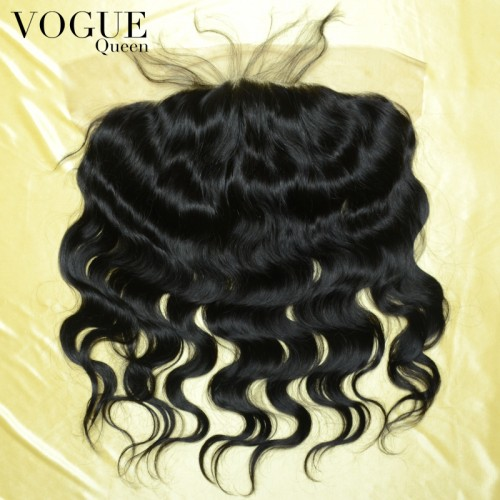 8A Grade 13x6 Full Lace Frontal Body Wave Human Hair,Bleached Knots,Natural Color
