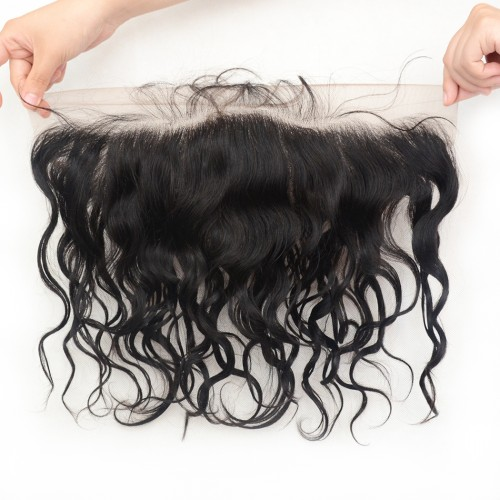 13x4 Brazilian Water Wave Lace Frontal Closure,Unprocessed Virgin Human Hair