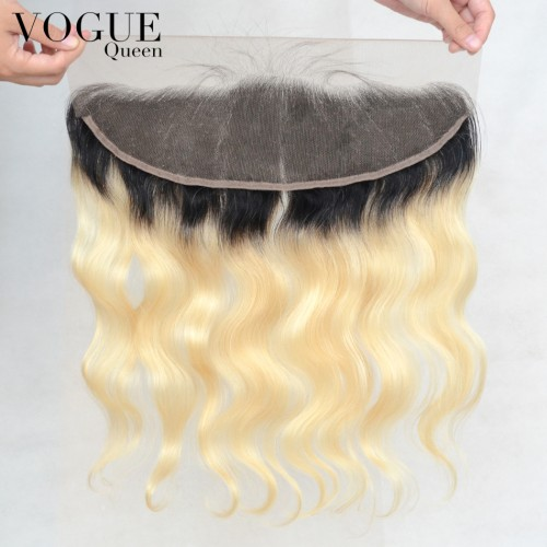 13x4 2T Ombre Color 1B/613 Body Wave Frontal,Virgin Human Hair 8A Top Grade