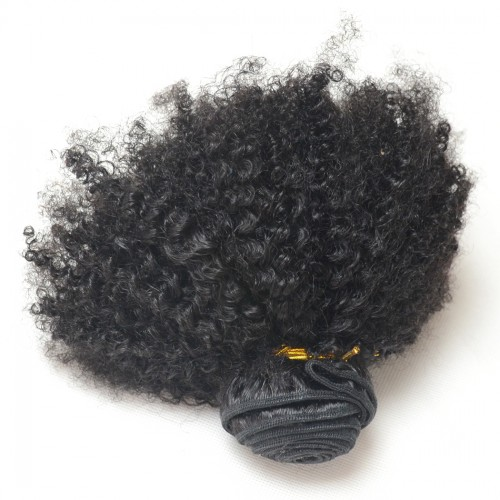 Afro Kinky Nappy Hair Bundles, One Bundle Natural Color Vrigin Human Hair Hair Weave