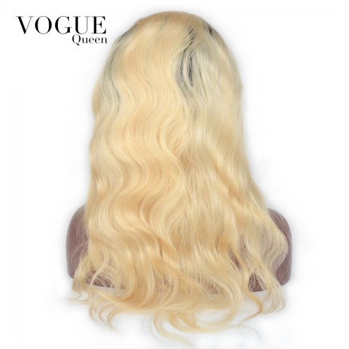 613 Body Wave Lace Front Wigs 100% Brazilian Virgin Human Hair Bleached Blonde Wigs