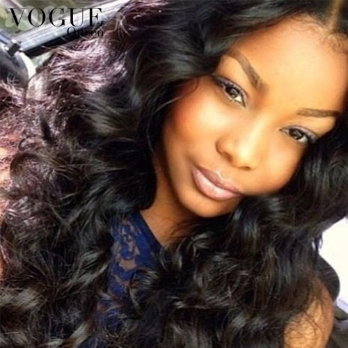 7A Full Lace Human Hair Wigs Loose Wave Curly Glueless Full Lace Wig